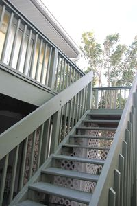 Private entrance and stairs from carport to condo