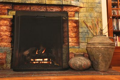 A warm toasty fire is a great way to end your day!