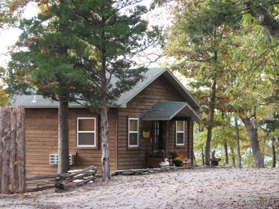 Cabin 101, The Minnow Bucket, frontal view, honeymoon cabin