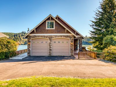 Photo for Stunning, dog-friendly lakefront home w/ private beach & dock, kayak, & canoe!