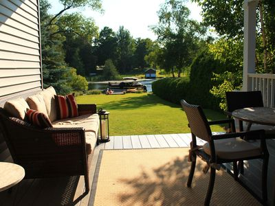 Photo for Gorgeous 5 BR on Lake Leelanau! Walk to Town, nr Wineries, incl Dock/Canoe/Kayak