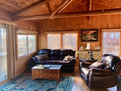 You will love this warm and inviting living room with stunning views