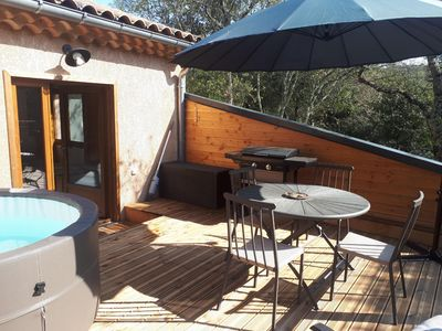 Photo for Olive tree cottage Jacuzzi - charming cocoon in peace and full nature