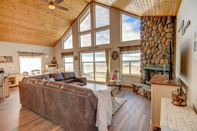 Endless ocean views and up-stated casual comfort make this living room a place you won't want to leave.
