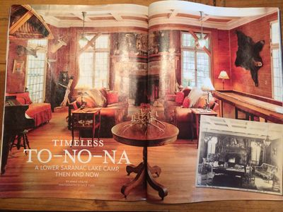 Our Enormous Great Room - Centerfold of Adirondack Life Magazine
