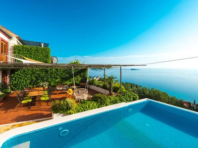 Photo for Holiday house with infinity pool near Dubrovnik, for 6-8 persons