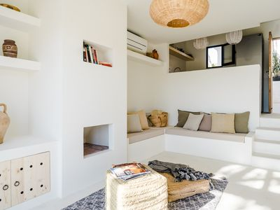 Photo for Authentic Ibiza design house, walking distance to Cala Vadella beach