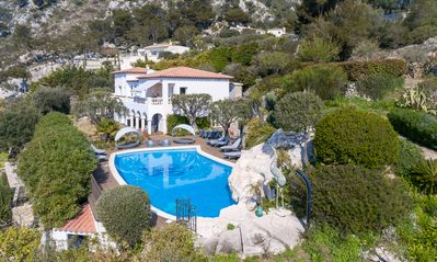 Photo for Beautiful Family Villa with Pool, gardens, stunning sea views, Monaco and France