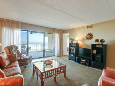 Photo for Oceanview will take your breath away-2 bed/2 Bath condo. Sleeps 6, pool, tennis & balcony.