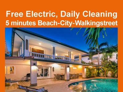 Photo for Villa Waree 5 min City and Beach, Free electric