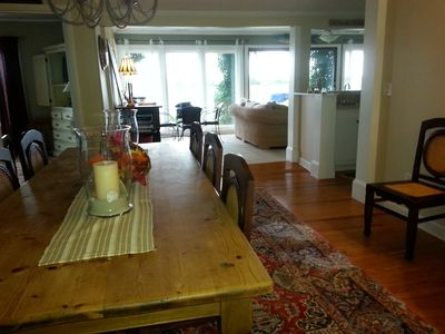 Dining table seats up to 10