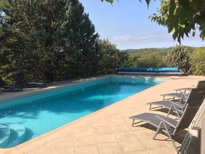 Photo for SUPERB SECLUDED VILLA WITH STUNNING VIEWS AND HEATED SWIMMING POOL