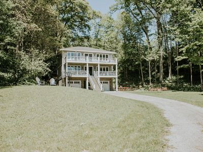 Photo for Private Setting with Views of  White Lake/Channel,  Easy walk to Lake Michigan!