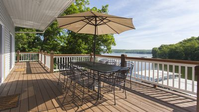 Photo for View Tan Tar A Fireworks! - 8 Bedroom w/ Hot Tub/Dock/Kayaks/Water Mat & More...