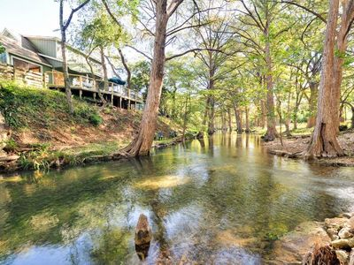 Photo for Cypress Creek House - Expansive Back Deck w/Steps Right Into The Water