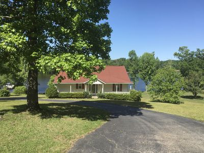 Photo for Large Tranquil lakefront home on lake Murray,boat ramp,dock w/5 ft swim ladder.