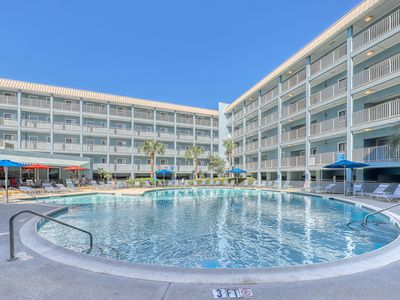 Photo for Beachfront condo w/shared pool & hot tub! Tennis courts on-site & close to beach