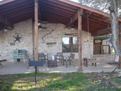 Photo for Texas working cattle ranch, 133 secluded acres, 3 beds, 2+ bath - sleeps 12