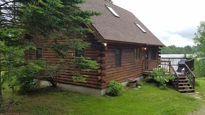 Photo for Beautiful Log Home on Rangeley Lake!