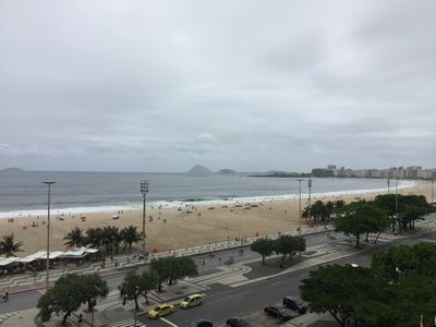 Photo for Large Beautiful Ocean View Apartment in the Heart of Copacabana