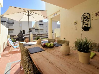 Photo for Duplex apartment on beautifully landscaped resort near Estepona and Marbella