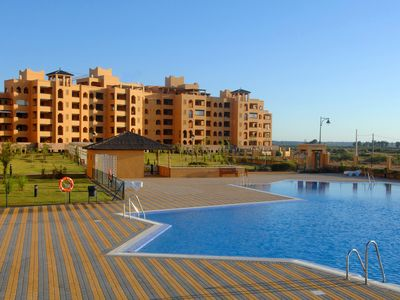 Photo for Modern, spacious apartment with sea views, air conditioning, wifi and pool
