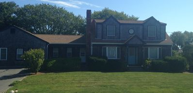 Photo for Hyannis 4 bedroom, 3 houses to private beach, pool, walk to beaches, ferry