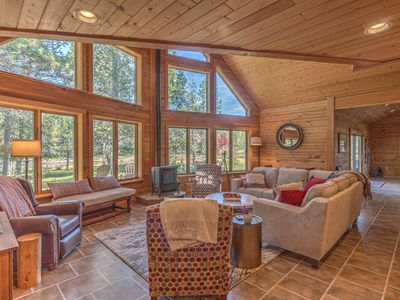 Photo for Your dream log cabin in the woods situated right on the Deschutes River!