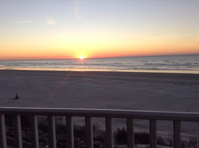 Sunrise from the balcony with your favorite cup of coffee