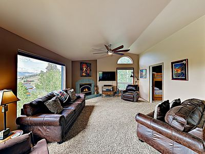 Photo for New Listing! Mountain-View Home at Granby Ranch w/ Balcony & Fireplace