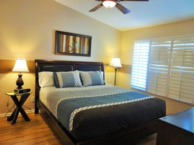 Master bedroom with very comfortable king bed