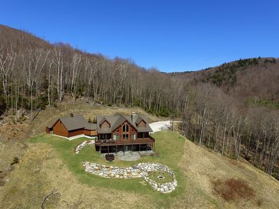 Photo for New Listing - Luxury log home with stunning views