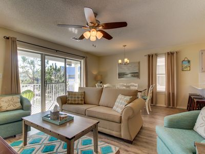Photo for Contemporary beachside retreat w/ a shared pool & tennis courts - dogs OK!