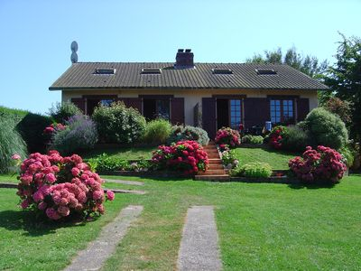 Photo for House with superb sea views 4 stars and a beautiful flower garden