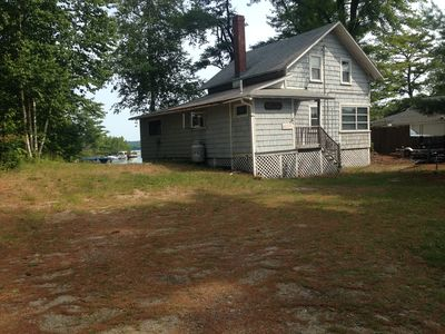 Photo for Lake Front Cottage with Private Sandy Beach & Beautiful Sunsets