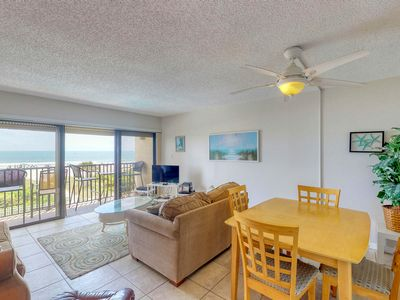 Photo for NEW LISTING! Oceanfront condo w/ balcony & shared pool - steps to the beach!