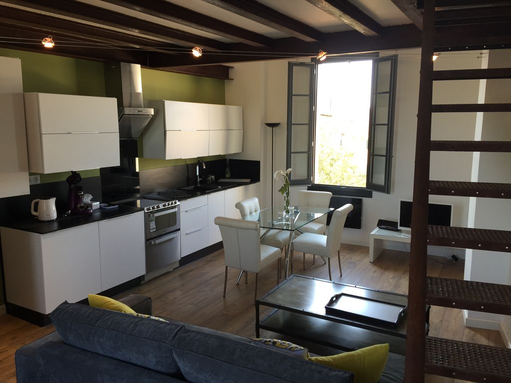 Superb Loft Overlooking The River Sorgue - Centrally Located In Isle Town - A/C