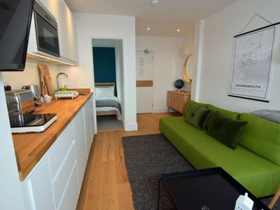 Photo for BOURNECOAST: MODERN FLAT IN THE HEART OF BOURNEMOUTH CENTRE NEAR BEACHES -FM6238