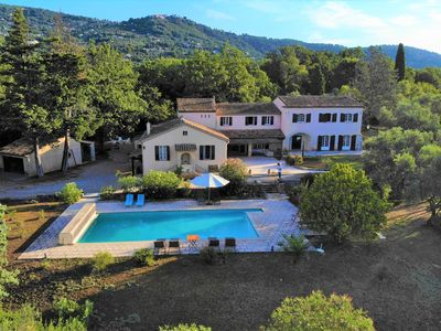 Photo for Stunning  Provencal Villa  on the French Riviera nested in  a 3 acres garden