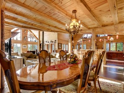 Photo for Beautiful Log Cabin on Private Lake