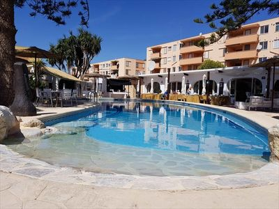 Photo for Renovated: 3 room apartment in Javea on the Arenal sandy beach !!
