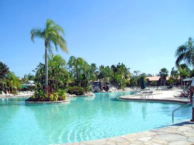 Photo for PARADISE FOUND!  LAKEFRONT FIRST FLOOR CONDO IN TROPICAL FALLING WATERS