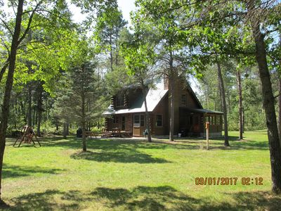 Photo for Boardman River (Traverse City) Log Cabin - Your Fishing & Snowmobiling Paradise!