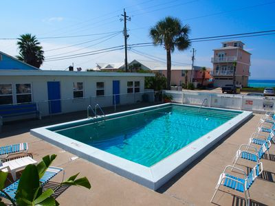 Photo for SPECIALS - Steps to Beach-POOL - Villa w/ Living Rm and Full Kitchen/Din Table