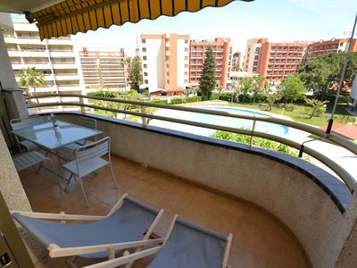 Photo for Cordoba:Well equipped with free AC & wifi-Residence with Sw.pool close to beach & Salou's centre