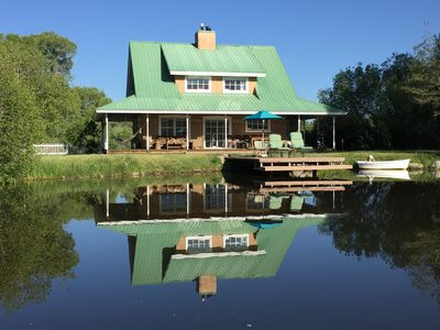 Elk Meadows Getaway house and dock with rowboat