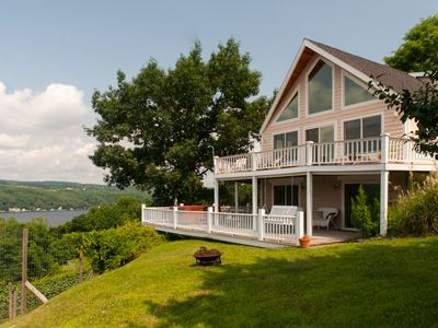 "Photo for Riesling Retreat:""Fantastic Views of the Lake, Vineyards, and Hillsides"""