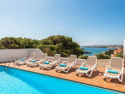Photo for Villaser - nice seaview and pool, free WiFi