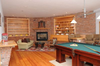 Billiard Room with Gas Fireplacde (Lower Level)