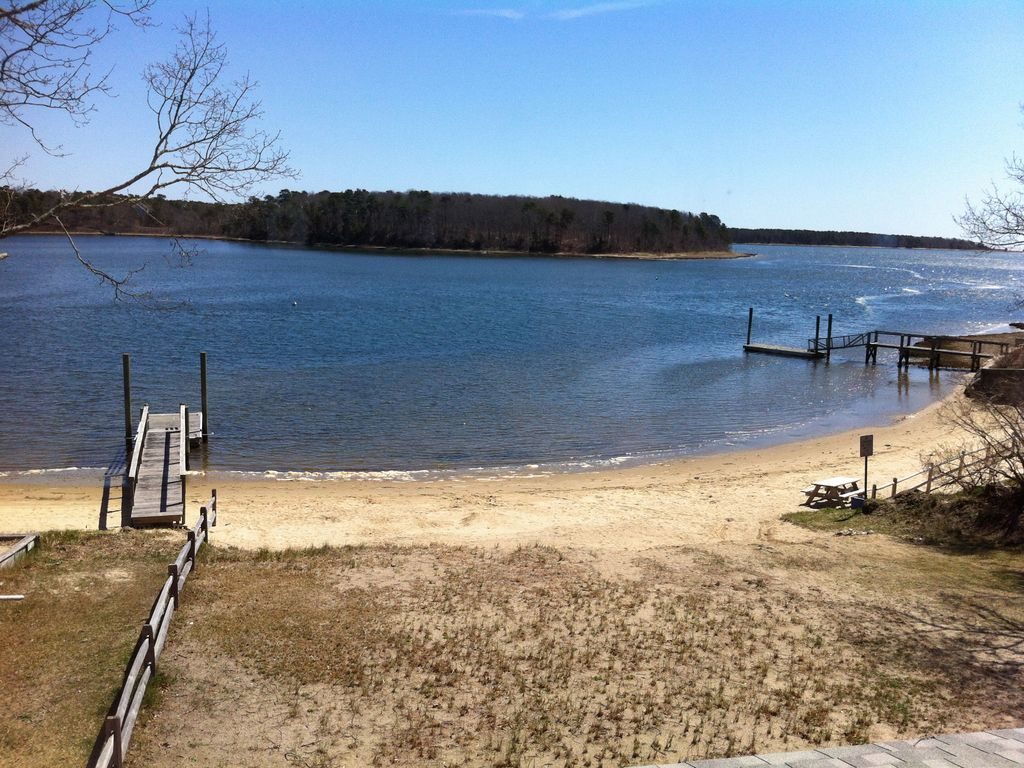 Waterfront 2 Story Colonial Home with beach and private boat dock